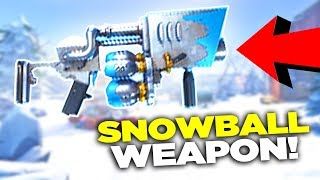 NEW GUN in Fortnite - Snowball Weapon! (Fortnite Battle Royale)