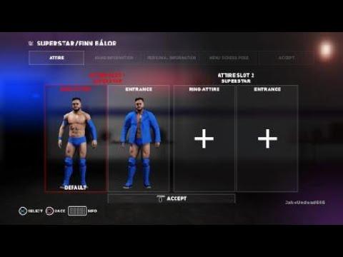 WWE 2K18 | FINN BALOR | (Blue Steel) - Custom Attire #46