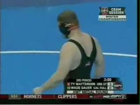 2007 NCAA Cons Semis HWT: Ty Watterson vs Wade Sauer