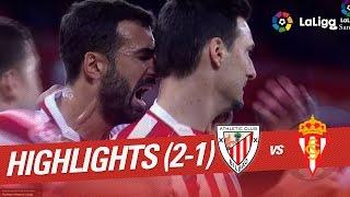 Resumen de Athletic Club vs Sporting de Gijón (2-1)