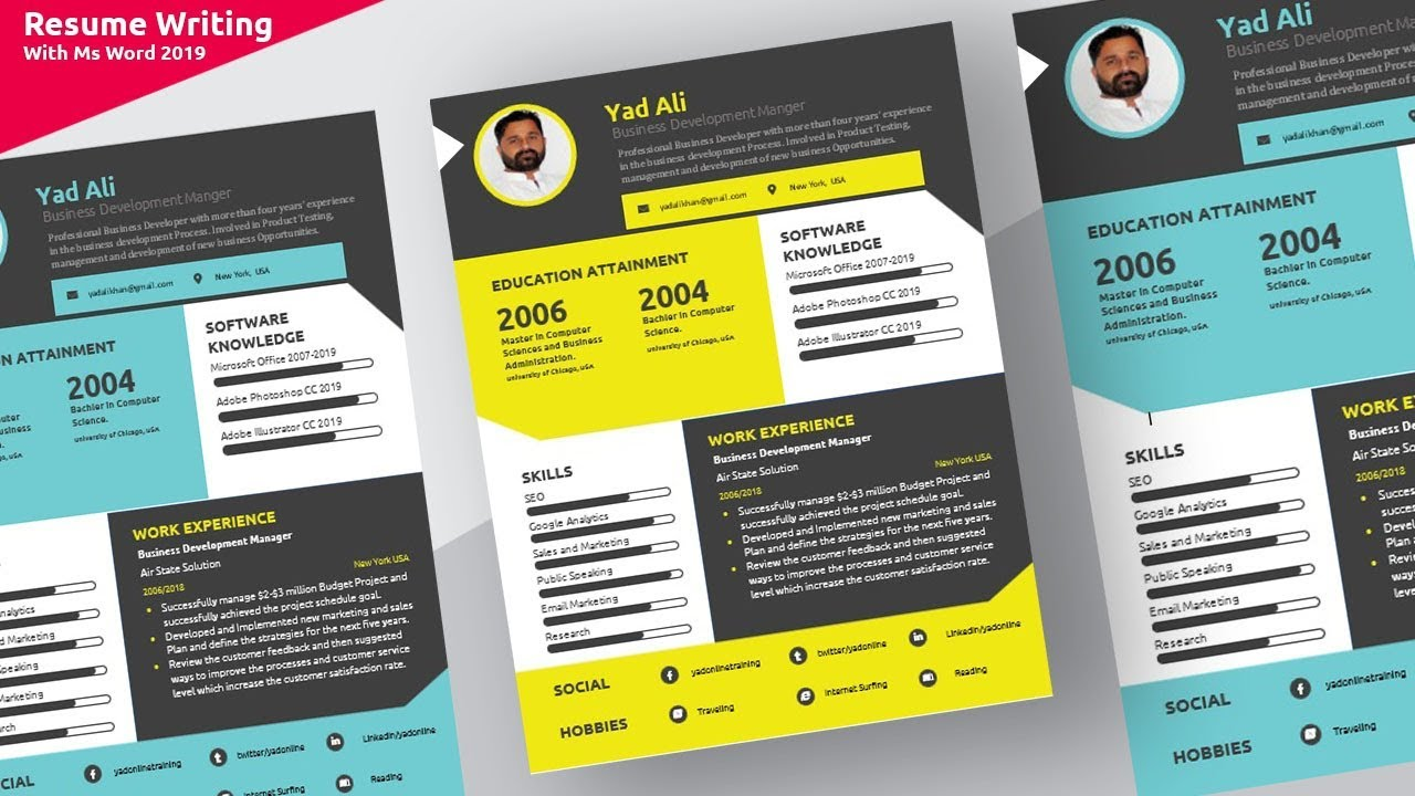 Colorful Resume from i.ytimg.com