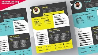 How to create a colorful awesome and complete Resume/ CV  in microsoft word 2019