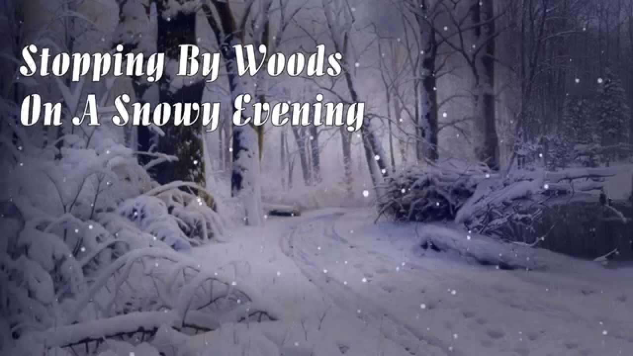 an analysis of stopping by woods on a snowy evening a poem by robert frost Revision for stopping by woods on a snowy evening by robert frost focused on the aqa litb1 exam.