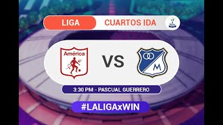 América vs. Millonarios (Previa) | Liga BetPlay 2021-1 | Cuartos de final ida