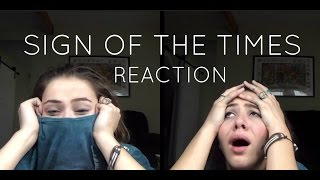 "REACTING TO HARRY STYLES ""SIGN OF THE TIMES"""