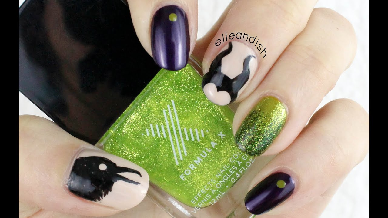 Maleficent Nails - YouTube