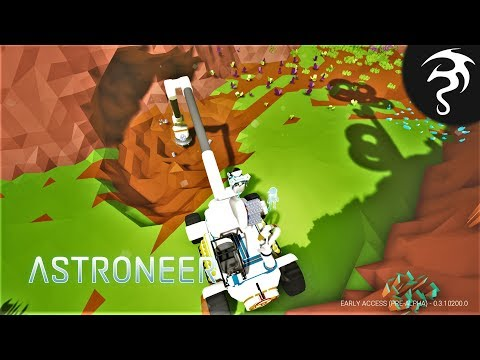 Playing with the Crane & Drill Head! Plus the Wide Mod! - Ep8 - Astroneer Back to Space!