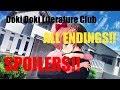 (SPOILERS!!)Doki Doki Literature Club - All endings