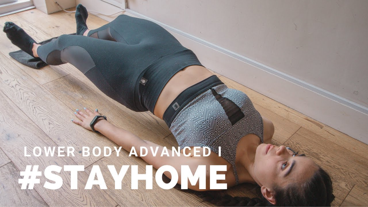 AT HOME LOWER BODY ADVANCED WORKOUT I | #STAYHOME (Towel/slider/foam roller leg and butt workout)