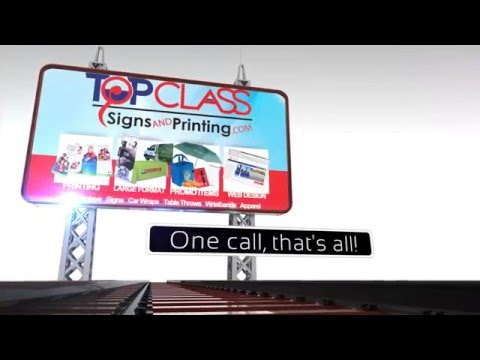 Top Class Signs and Printing Services Video