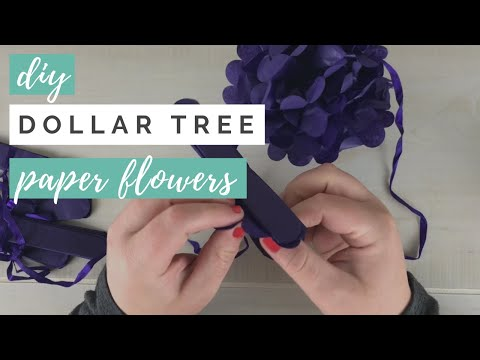Dollar Tree Hanging Tissue Paper Flowers DIY Review