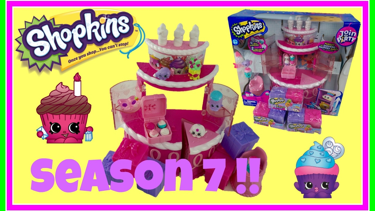 SHOPKINS Birthday Cake Surprise Party Season 7 Present Blind BagsPrincess Toy Channel For Girls