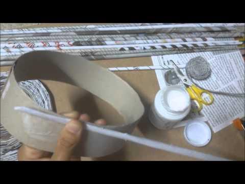 ประดิษฐ์กล่องจากกระดาษหนังสือพิมพ์  by.aiwty