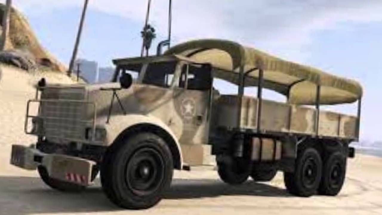 top 4 sur les v hicules militaires de gta 5 youtube. Black Bedroom Furniture Sets. Home Design Ideas