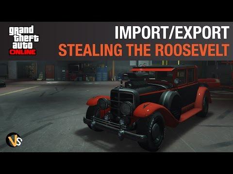 Stealing Cars - Roosevelt Valor Stealth Steal - GTA Online Import Export DLC