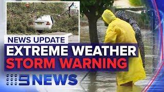 News Update: Sydney storm damage, QLD warning | Nine News Australia