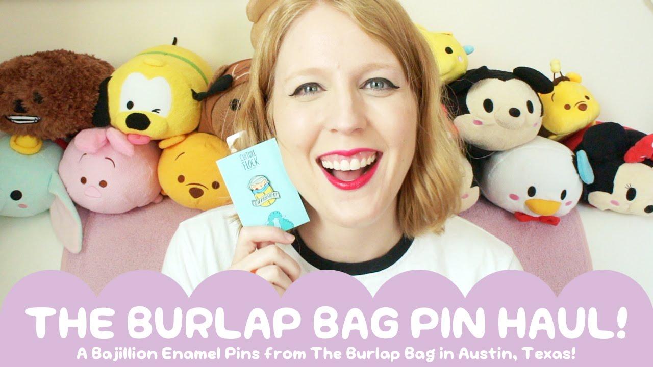 Enamel Pin Haul from The Burlap Bag in Austin Texas