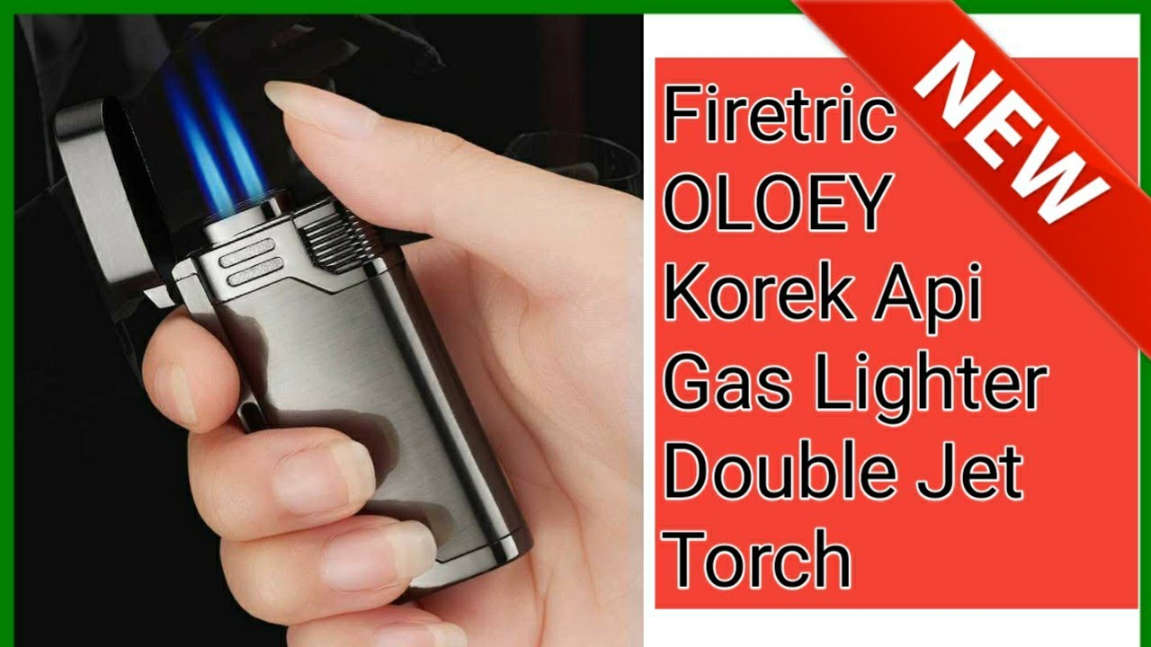 Firetric OLOEY Korek Api Gas Lighter Double Jet Torch ...