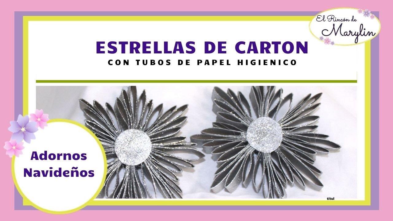 Estrellas para el arbol con tubos de papel higienico youtube - Estrellas de papel ...