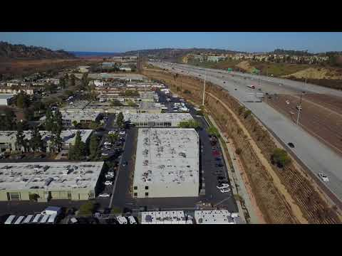 Flight over the Sorrento Valley in San Diego CA - December 2017