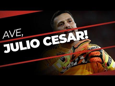 Bastidores da despedida de Julio Cesar