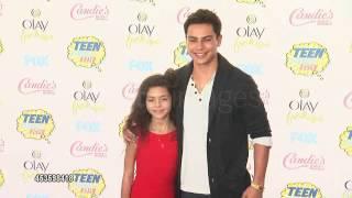 Jake T. Austin and Ava Szymanski at the teen choice awards 2014