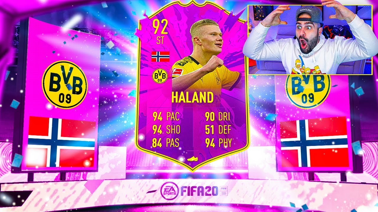 OMFG 92 HALAND!! THIS CARD IS INSANE! *4 MILLION COINS* FIFA 20 Ultimate Team thumbnail