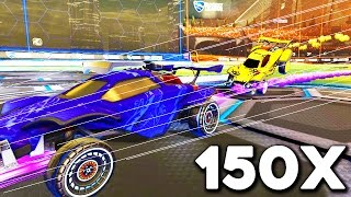 150X BOOST IS AMAZING! | MODDED ROCKET LEAGUE