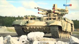 "BMPT ""Terminator"" Tank in Action / Firing All Its Powerful Cannons 