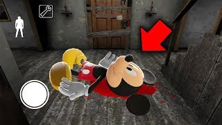 I found MICKEY MOUSE in Granny Horror Game... GRANNY KILLED HIM! (Granny Mobile Horror Game)