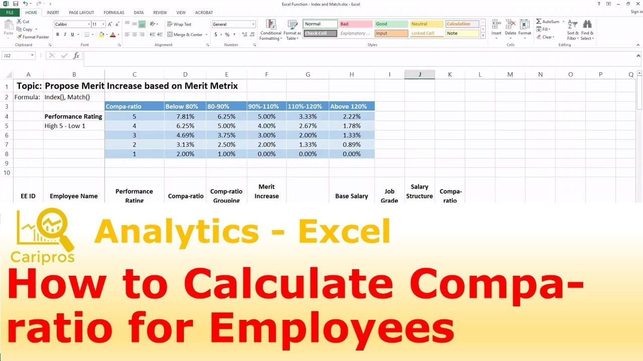 Salary Benchmarking Template Excel