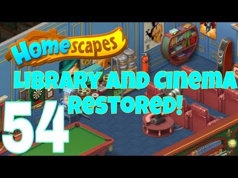 HOMESCAPES - Gameplay Walkthrough Part 54 - Library / Cinema Day 6