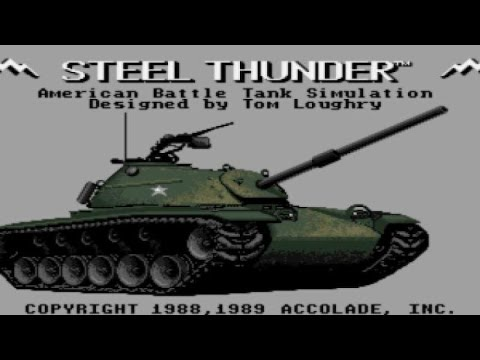 Steel Thunder gameplay (PC Game, 1988) thumbnail
