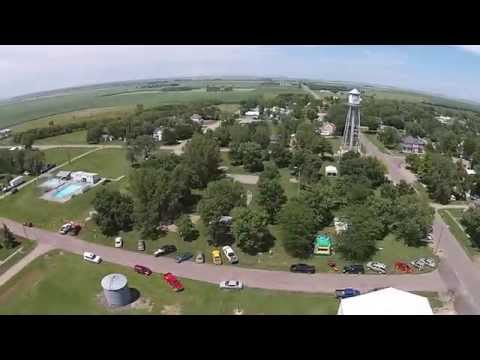 Drone Video of White Lake, South Dakota and Reuland Auction