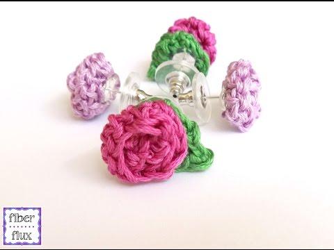 How To Crochet Rosette Earrings, Episode 212