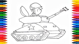 Tank Drawing How to Draw Tank and paint it