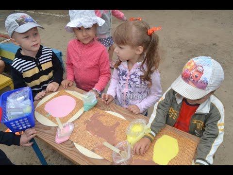 Песочная терапия в детском саду Игры детей с цветным песком летом смотреть онлайн