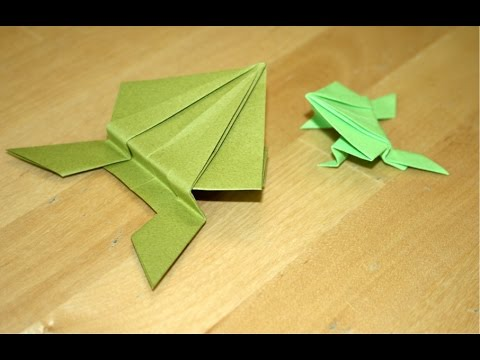 Origami grenouille sauteuse am ricaine american - Video d origami facile ...