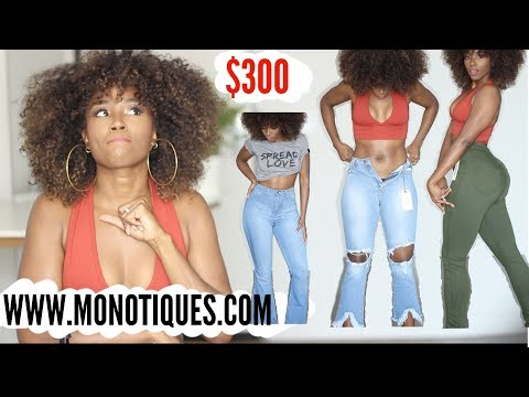 CURVY GIRL TRY ON HAUL + FALL FASHION WITH MONOTIQUES.COM BETTER THAN FASHION NOVA JEANS? thumbnail