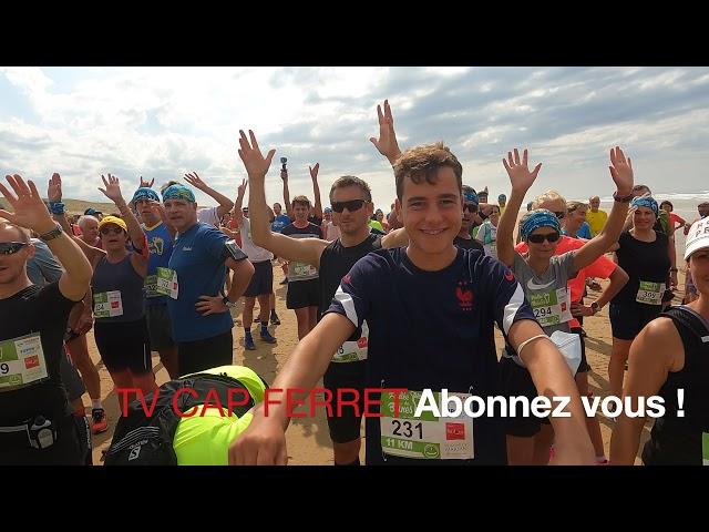 Foulée des Baïnes #2 - La Ola des coureurs des 11, 22 et 31kms Plage Grand Crohot Lège-Cap Ferret