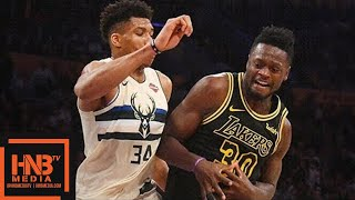 Los Angeles Lakers vs Milwaukee Bucks Full Game Highlights / March 30 / 2017-18 NBA Season