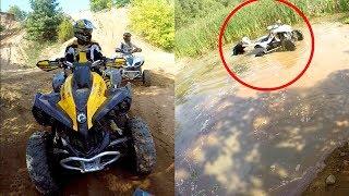 Topienie quada w bagnie - Czy Suzuki przejedzie!  Mud + Deep water + Ten-year-old Japanese atv