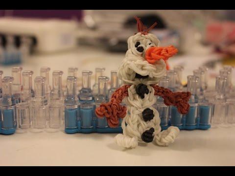 Náramky z gumiček - SNĚHULÁK OLAF - návody česky