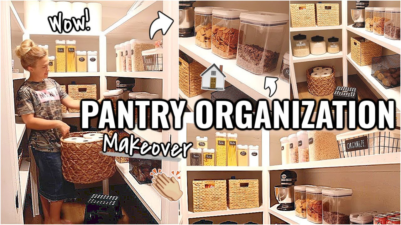 PANTRY ORGANIZATION IDEAS!!👏🏼 DREAM PANTRY MAKEOVER   BEFORE & AFTER OF OUR ARIZONA FIXER UPPER
