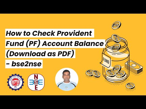 How to Check Provident Fund (PF) Account Balance (Download as PDF) - bse2nse.com