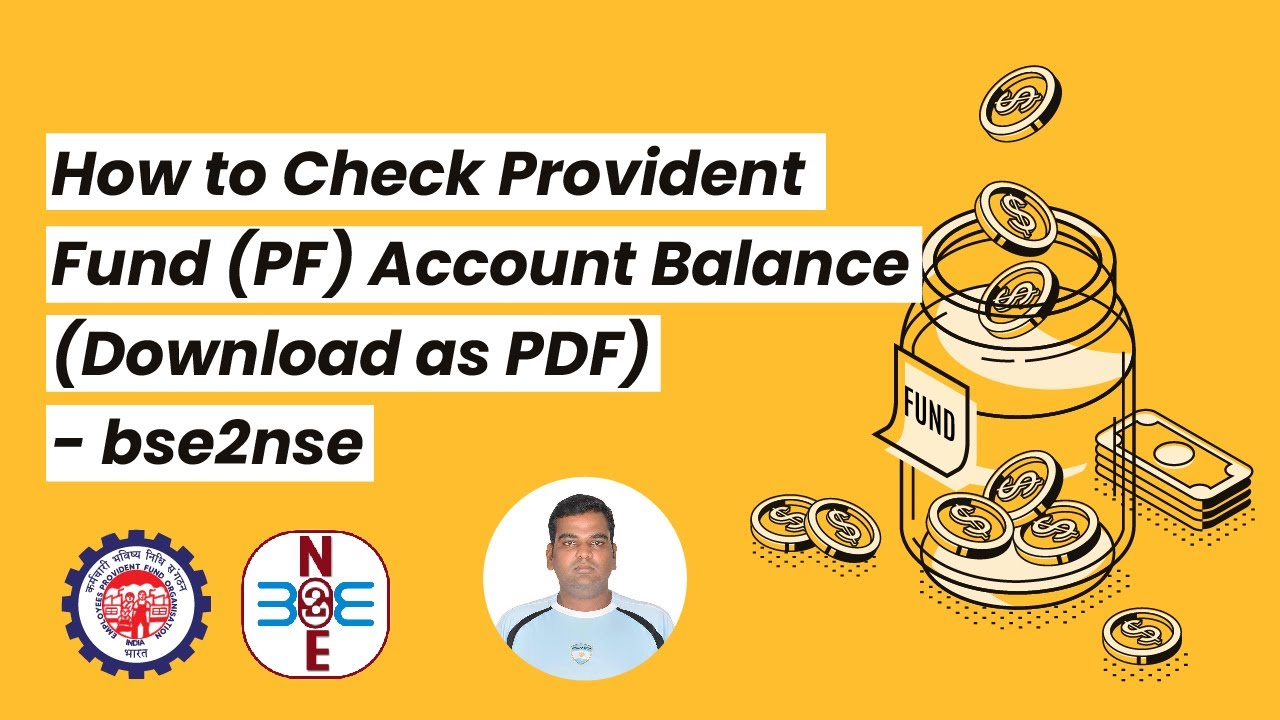 How to Check Provident Fund (PF) Account Balance (Download as PDF) -  bse2nse com