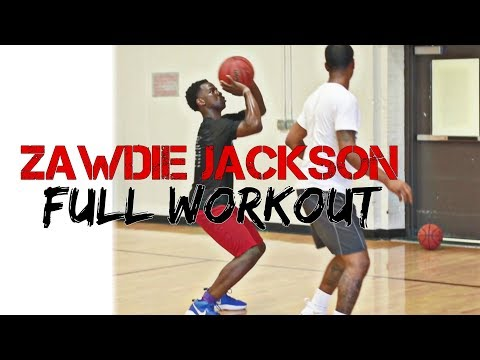 Full Basketball Workout (Zawdie Jackson 10th Grader) Training with coach Howard