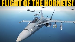 Mass Hornet Strike Mission In Algeria | FA-18C | DCS WORLD