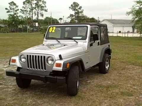 Used car Gainesville, near ocala FL.02 JEEP WRANGLER 4X4 5 SPEED CALL FRANCIS (352)745-2019