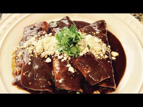 Mira lo que comemos en mexico enchiladas de mole | Doovi